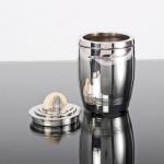 Art Deco silver tea caddy