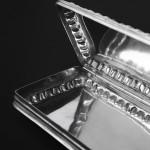 Antique Dutch 833 silver trinket box