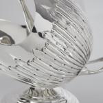 Antique novelty silver sugar scuttle