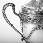 Neoclassical style silver trophy cup & cover