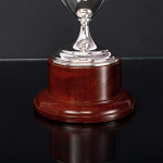 Petite neoclassical two-handled silver trophy cup