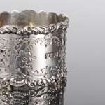 Antique oval silver napkin ring