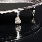 Antique Georgian style oval silver salver