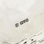"8"" antique Chippendale silver salver"