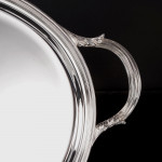 Oval silver-plated serving tray