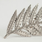 Set 6 Victorian silver butterfly menu or place card holders