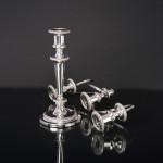 George III style 3-light silver candelabrum