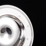 "4½"" silver armada dish"