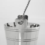 Edwardian silver cream pail