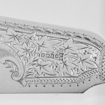 Antique silver-plated mother-of-pearl fish servers