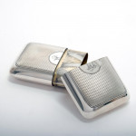 Victorian engine-turned silver cigar case