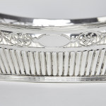 Antique silver-plated bread basket