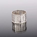 Oriental silver napkin ring