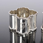 Set Edwardian silver napkin rings