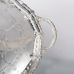 Large Victorian silver-plated tray