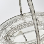 George III neoclassical style silver basket