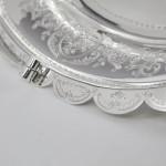 Victorian silver fruit or cake basket