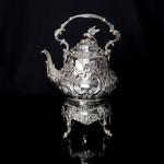 5-piece Louis pattern silver tea & coffee set