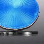 Silver & enamel hand mirror