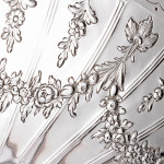 Large two-handled Vitruvian style silver tray