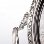Large Victorian two-handled silver tray