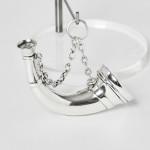 Silver vinaigrette & scent horn