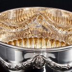 Victorian silver cream & sugar