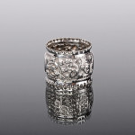 Antique embossed silver napkin ring