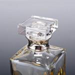 Dartington crystal & silver whiskey decanter