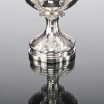 Large Victorian silver presentation goblet