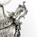 Fabulous Italian hand-chased silver vase