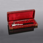 Antique French silver-plated bone holder