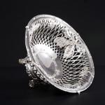 Pierced round silver fruit basket