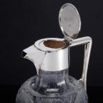 Victorian cut-glass & silver mounted wine jug