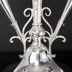 Antique silver flower trumpet épergne