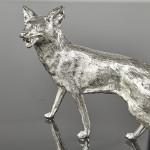 Silver fox model - head turned