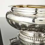 Impressive hand-raised & chased silver wine cooler