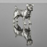 Silver Jack Russell model