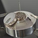 Boxed silver-plated picnic tea set