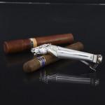 Antique silver horse head cigar cutter