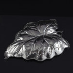 Extra large Buccellati silver Arum leaf dish