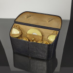 Asprey silver-gilt travelling or picnic tea set