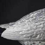 Pair lifesize silver pheasants