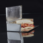 Antique silver sandwich box