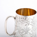 Victorian silver horticultural pint mug