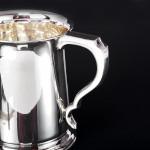 George II style silver pint mug