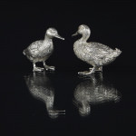 Small silver mallard duck