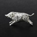 Silver running wild boar