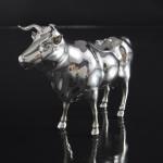 Antique English silver cow creamer