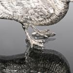 Pair silver woodcocks or snipe